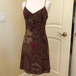 Parallel silk dress